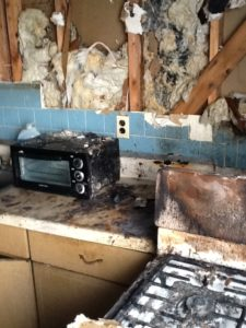 Kitchen Fire, Burned Insulation